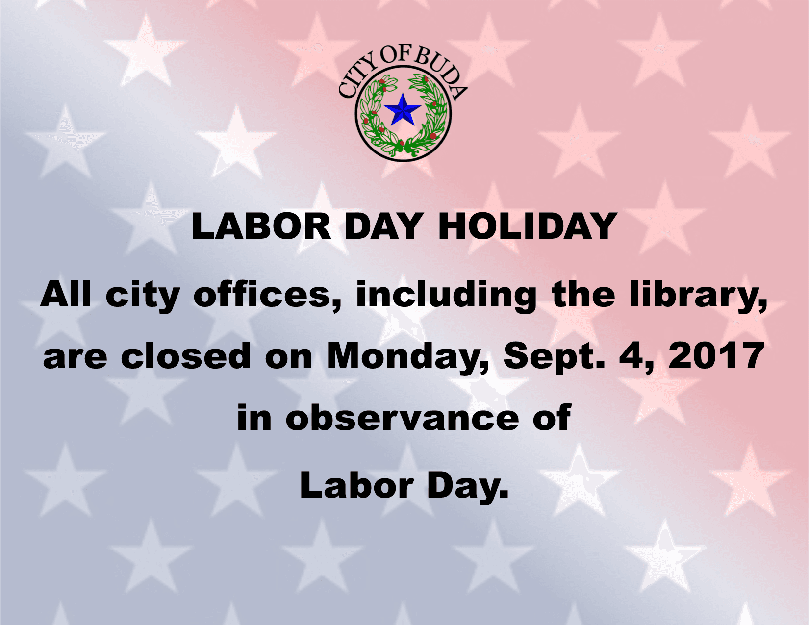 Labor Day Holiday