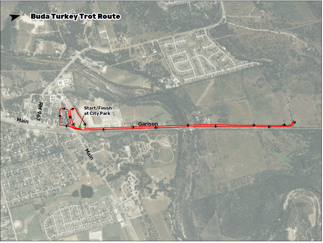 Buda Turkey Trot Route