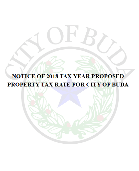 Notice of Proposed Tax RAte