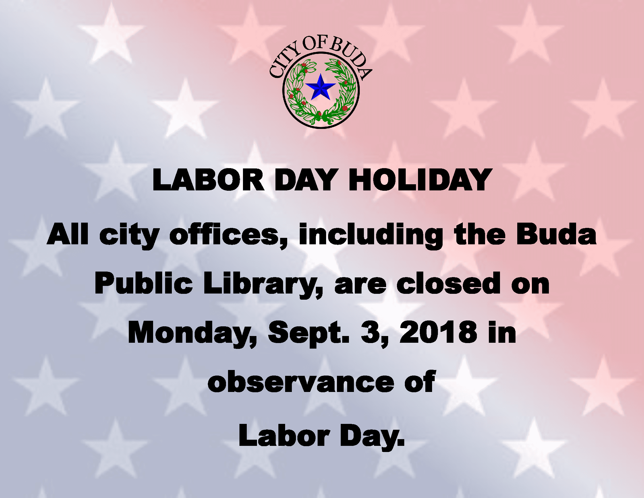Labor Day Holiday 2018