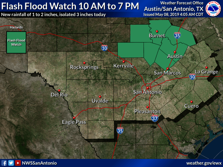 Flash Flood Watch - May 8, 2019