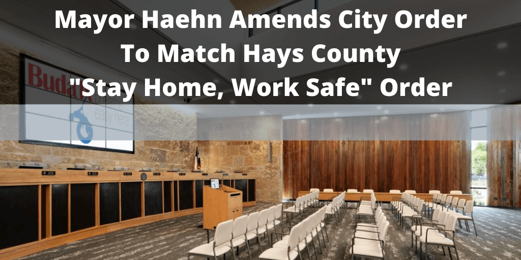 Mayor Haehn Amended Order - March 27, 2020 - Twitter