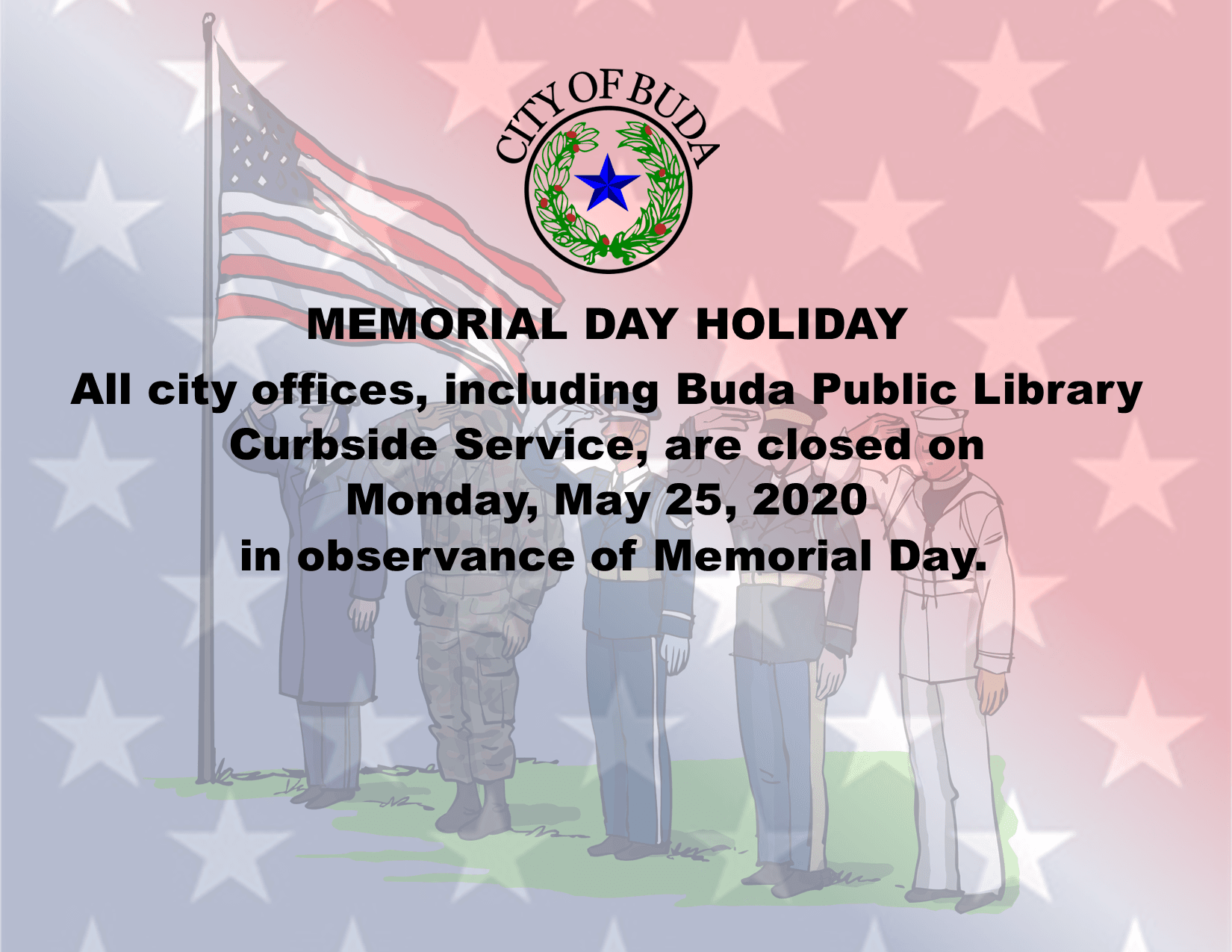 Memorial Day Holiday 2020