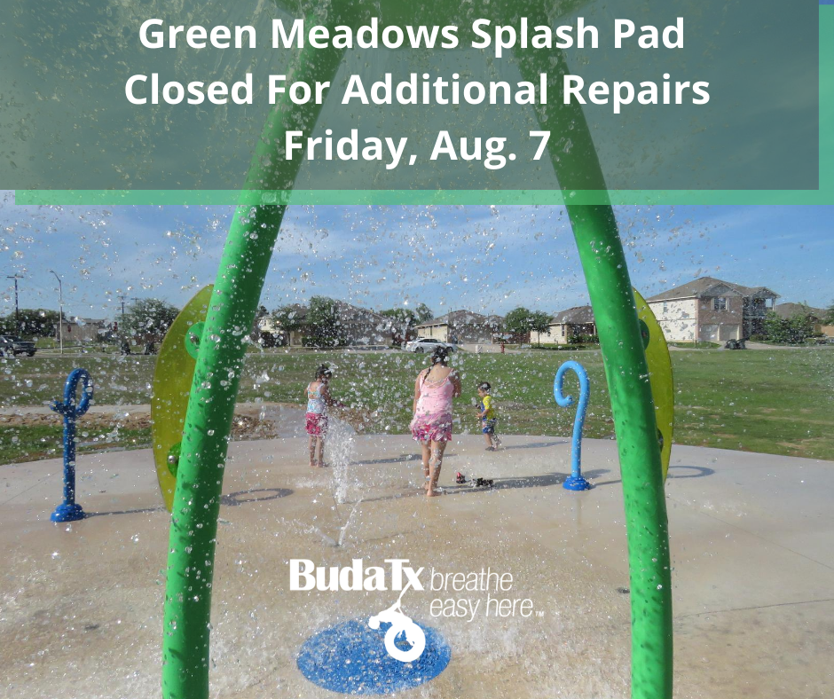 Green Meadows Splash Pad Closed For Additional Repairs