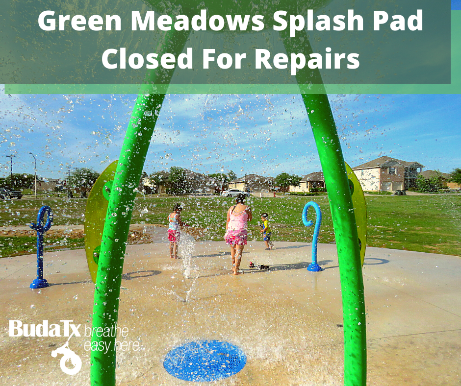 Green Meadows Splash Pad Closed For Repairs