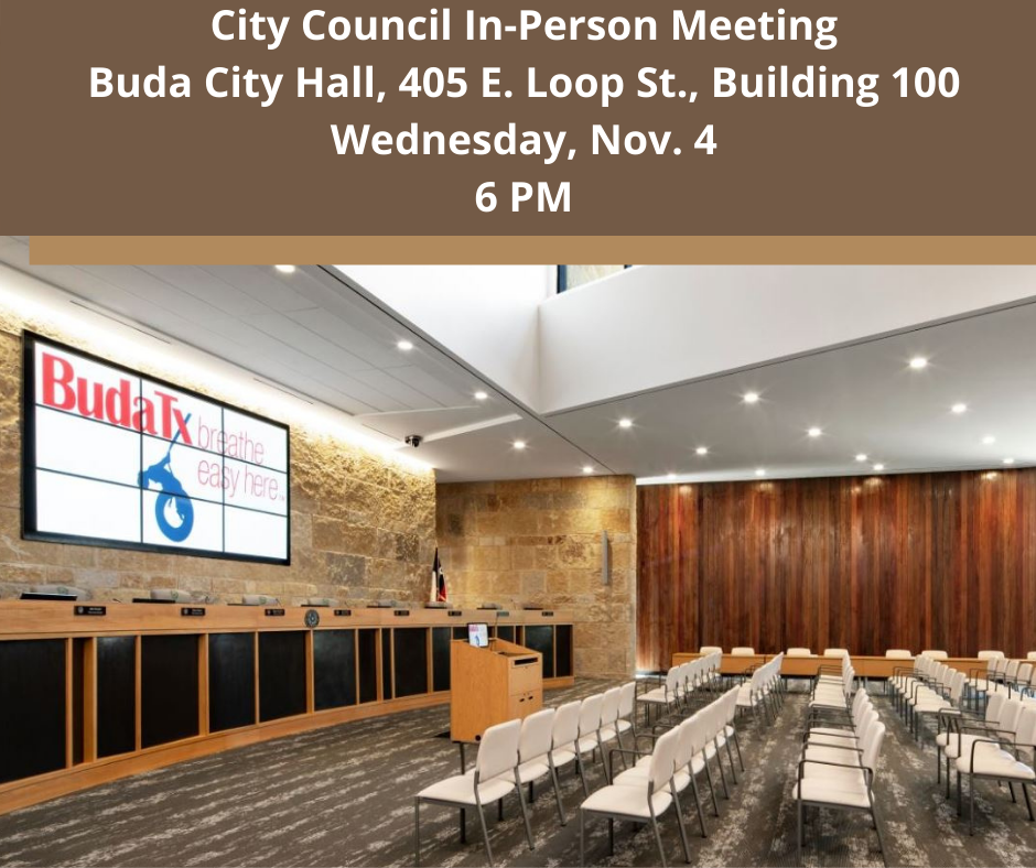 City Council Meeting - Wednesday, Nov. 4