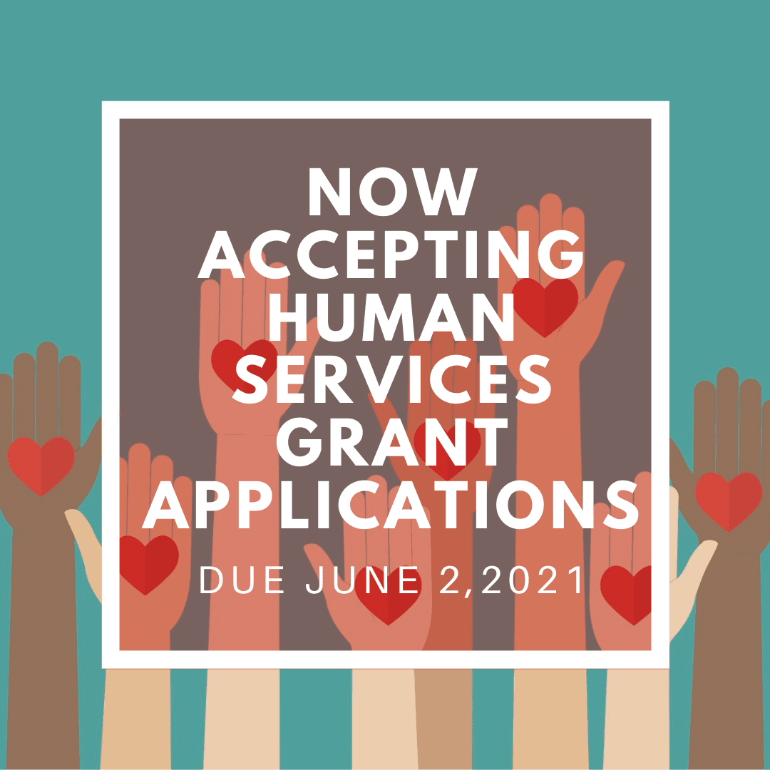 image hands holding hearts text now accepting human service grant applications due june 2 2021