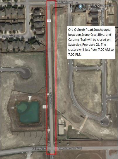Old Goforth Road Construction - February 23