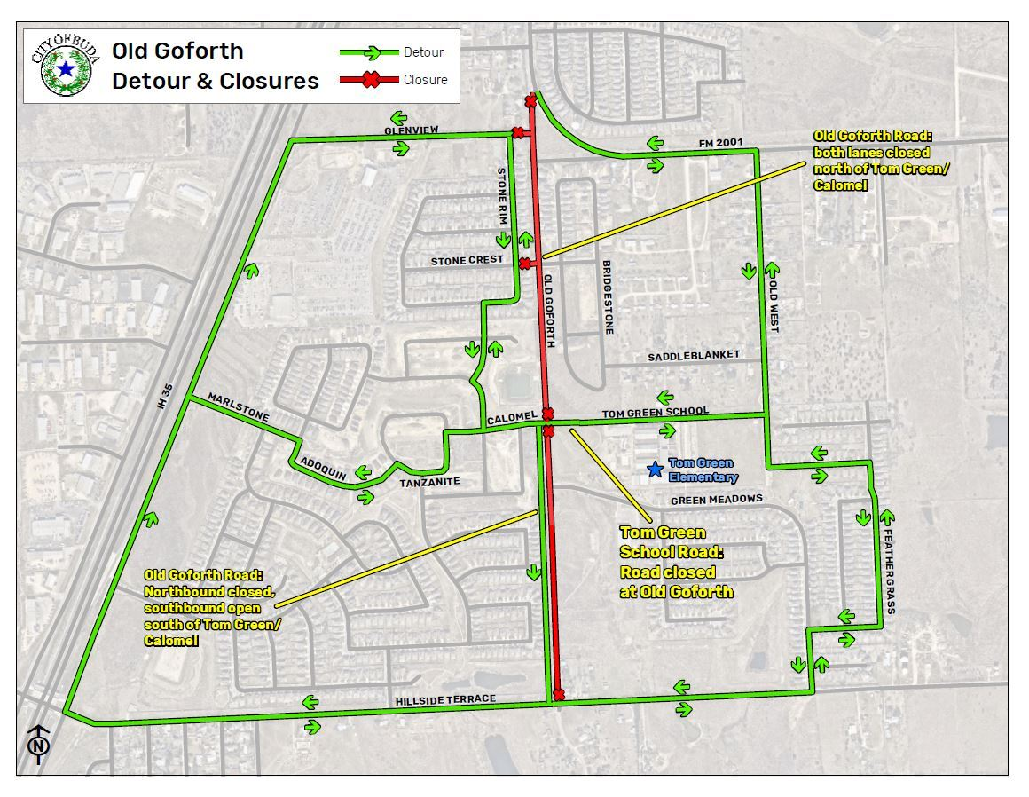 Old Goforth Road Closures - Detour - May 2019