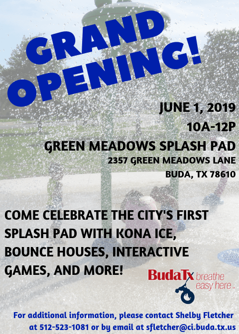 Green Meadows Splash Pad Grand Opening Celebration