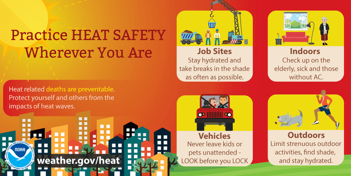 heat safety - Aug. 8, 2019