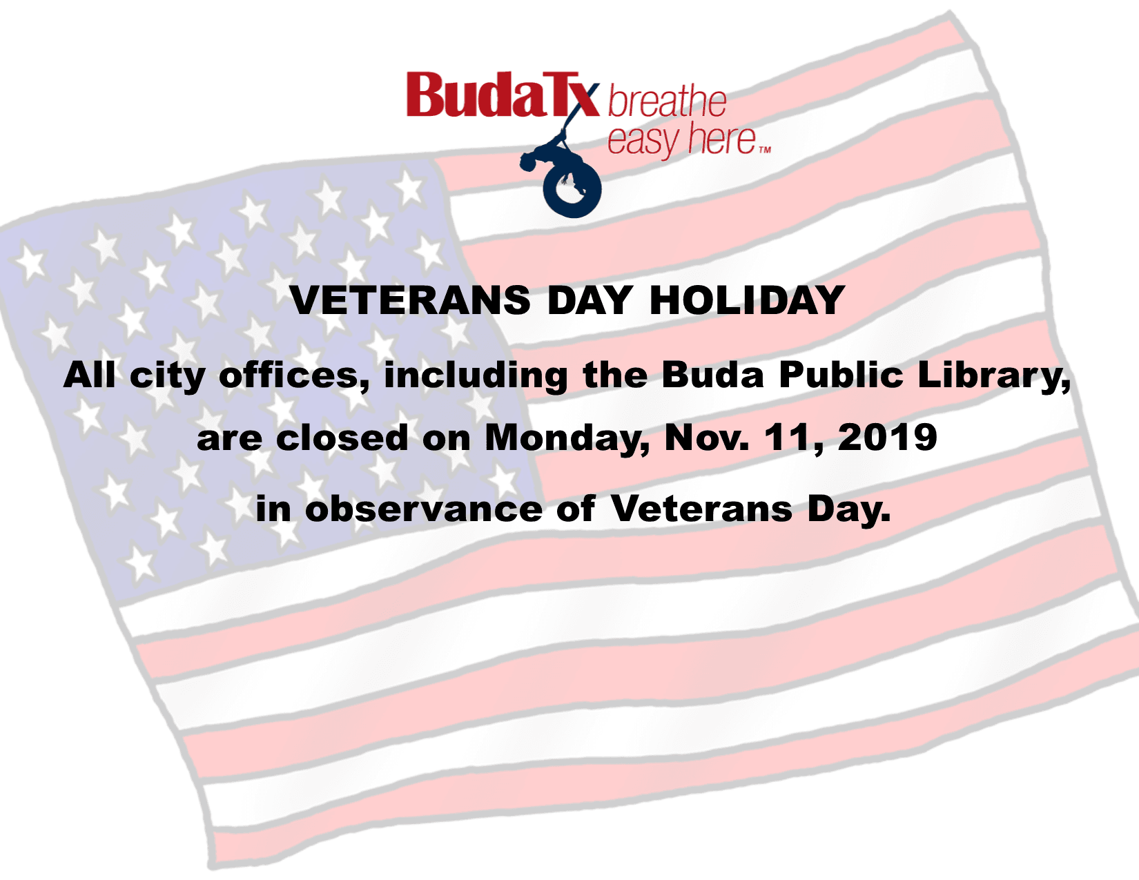 Veterans Day Holiday 2019