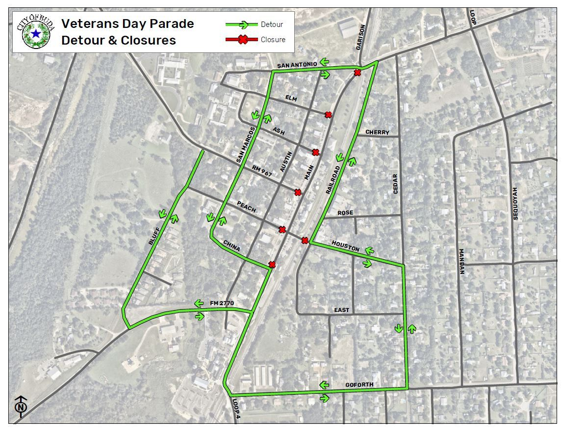 Veterans Parade Closure Detour