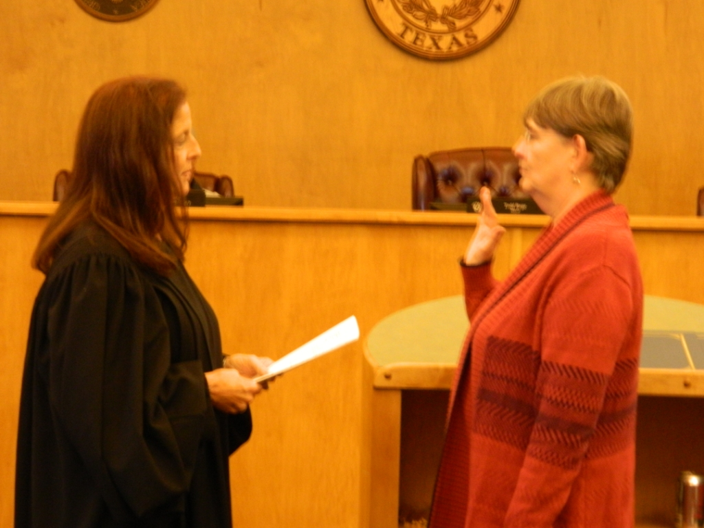 Swearing in of Eileen Altmiller, Place 5
