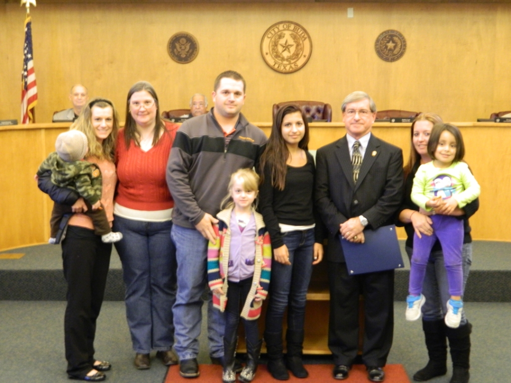 Council Member Bobby Lane and family