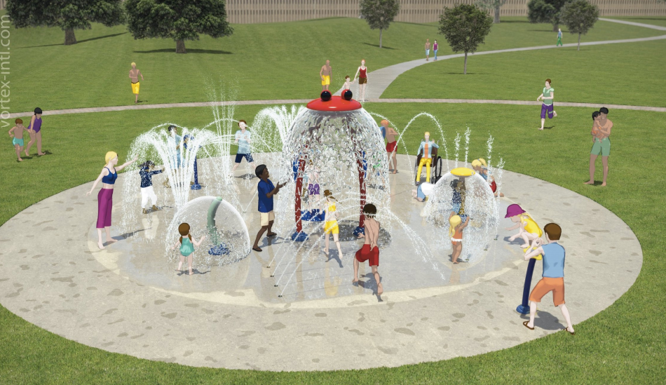 Green Meadows Splashpad Rendering 1