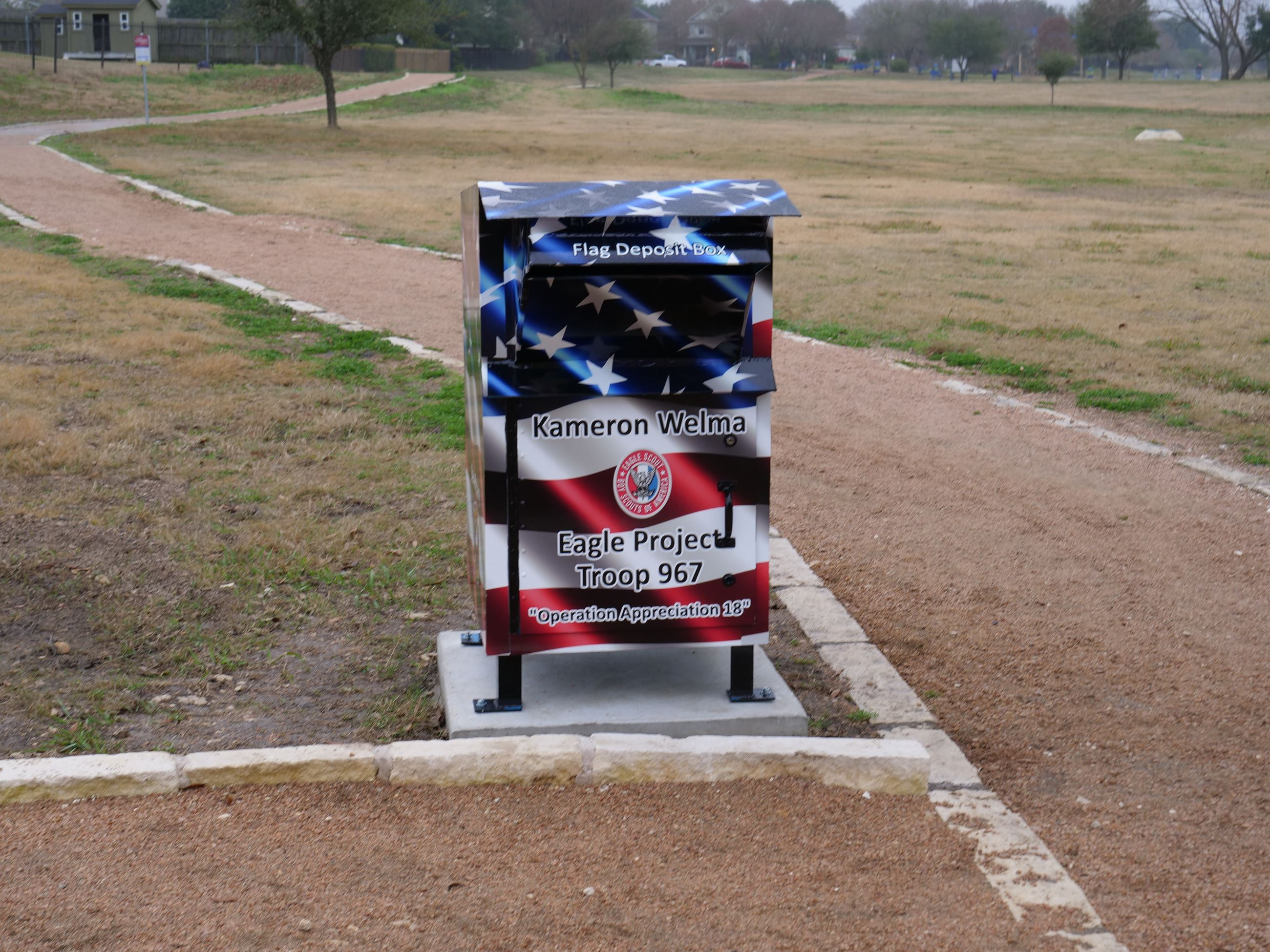 Flag Retirement Drop Box