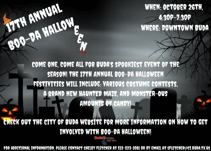 2019 Boo-Da Halloween Promotional Flyer