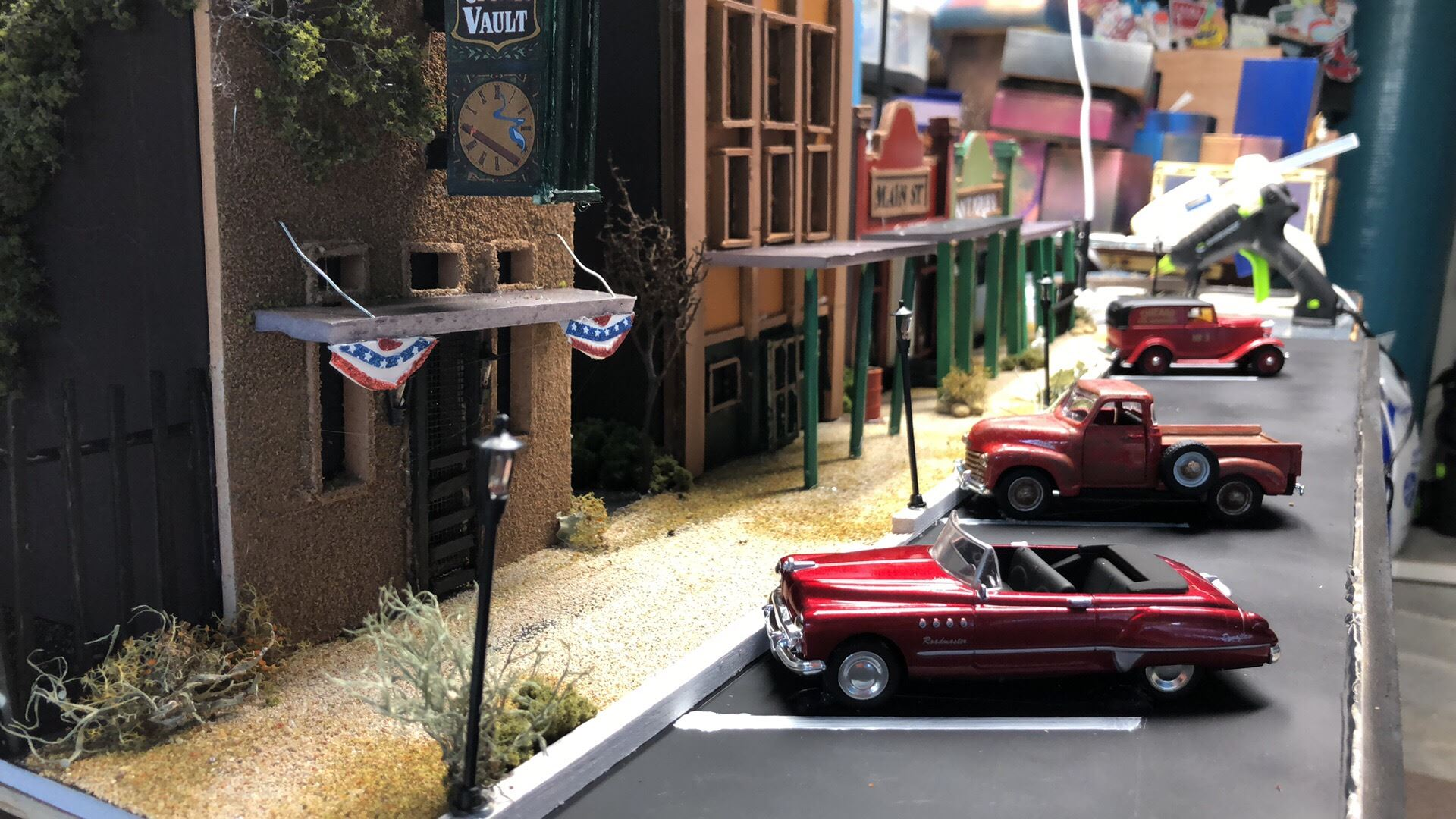 Downtown Buda Replica by Steve Ridenour