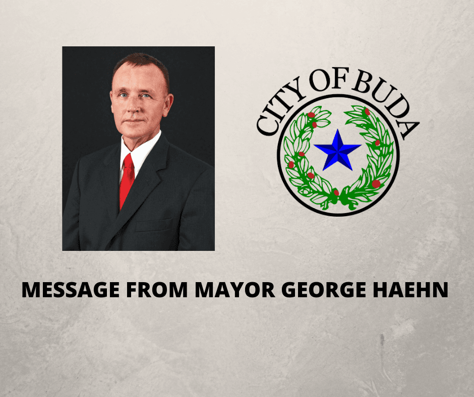 Message From Mayor George Haehn