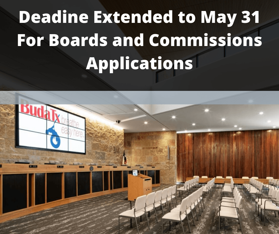 Deadine Extended to May 31 For Boards and Commissions Applicaitons