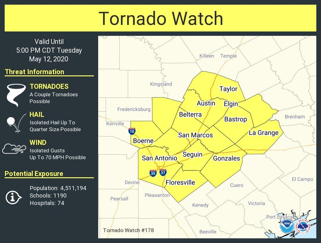 Tornado Watch - May 12, 2020