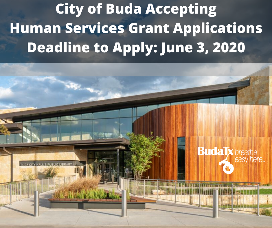 City of Buda Accepting Human Services Grant Applications Deadline to Apply_ June 3, 2020