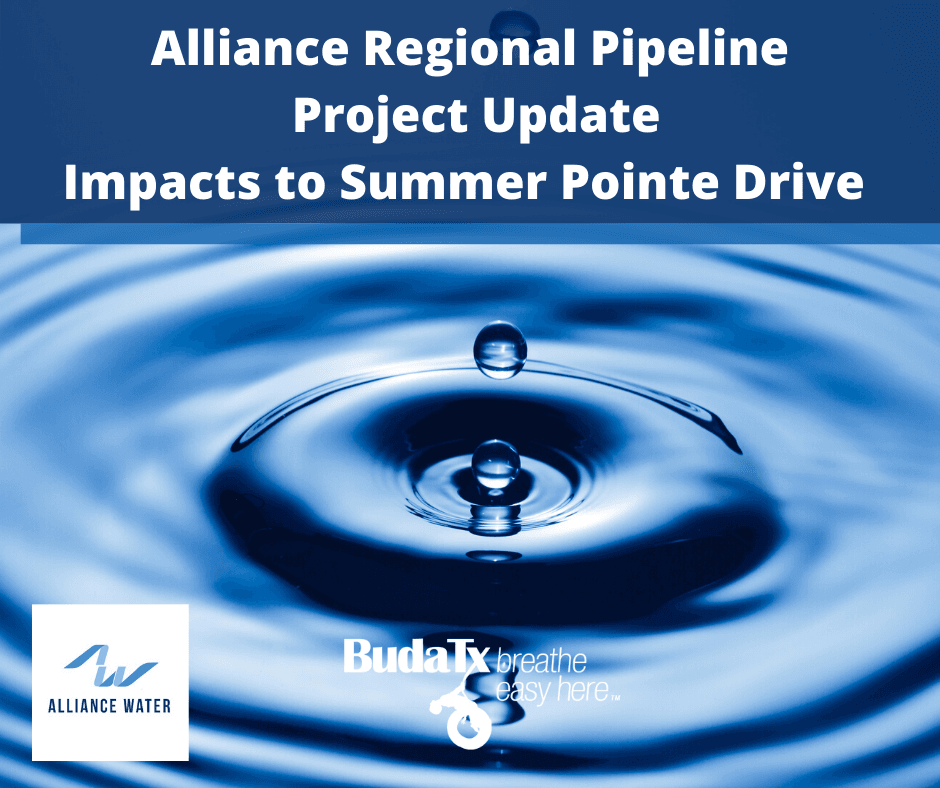 Alliance Regional Pipeline Project Update Impacts to Summer Pointe Drive (1)