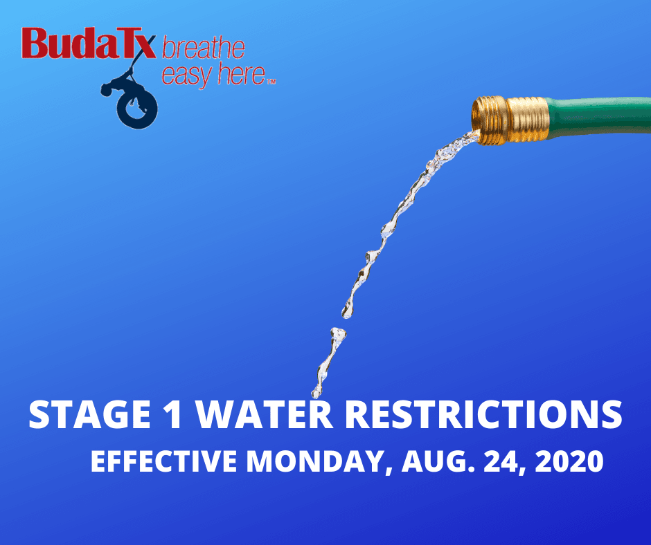 STAGE 1 WATER RESTRICTIONS EFFECTIVE