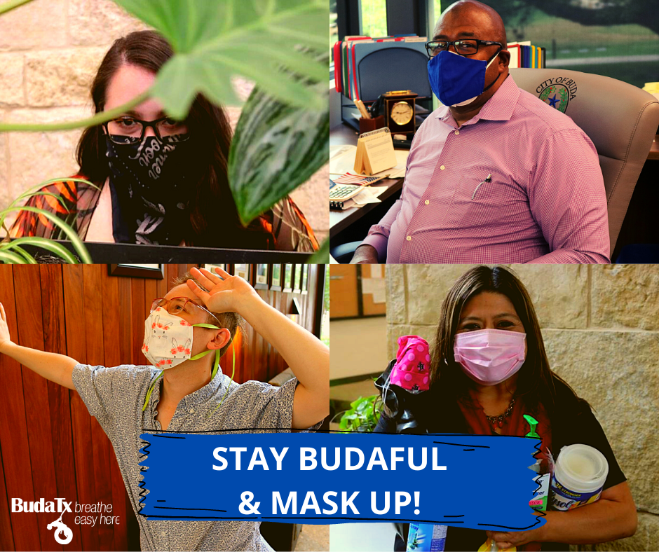 STAY BUDAFUL AND MASK UP