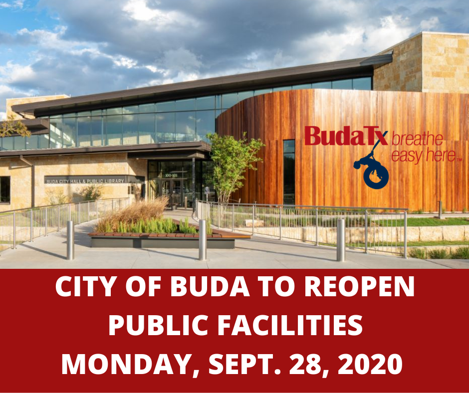 City of Buda To Reopen Public Facilities