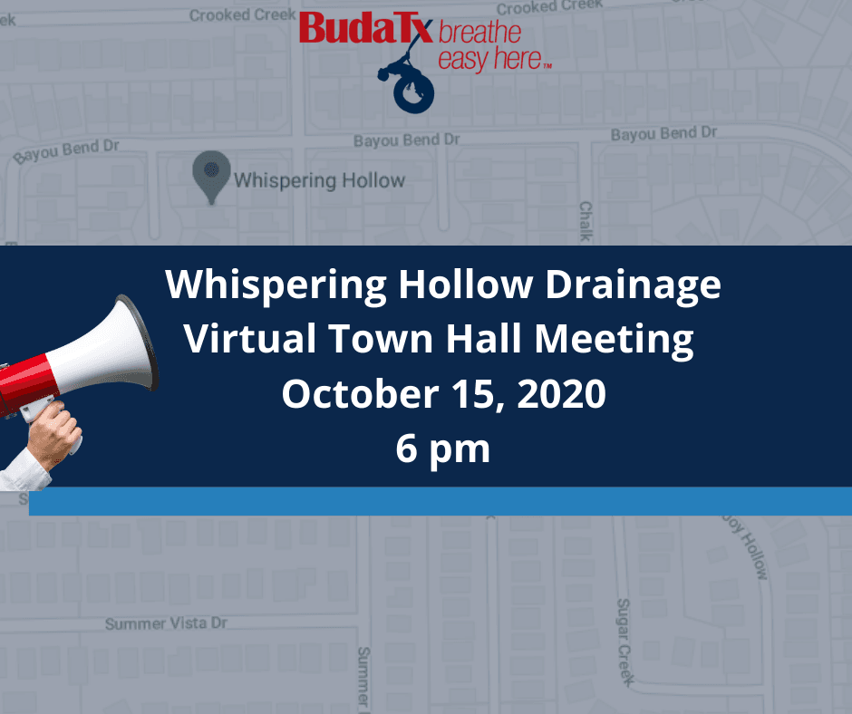 Whispering Hollow Drainage Virtual Town Hall Meeting