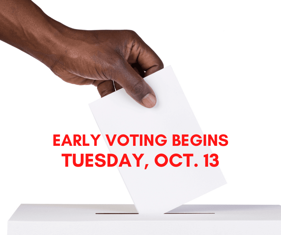 Early voting begins tuesday, oct. 13