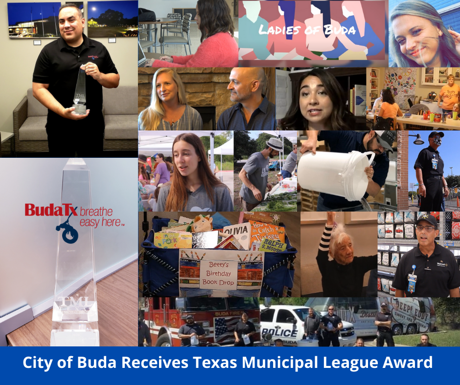 City of Buda Receives Texas Municipal League AWard