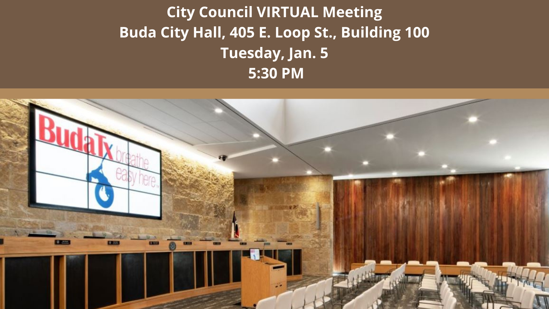 City Council Meeting - Jan. 5, 2021
