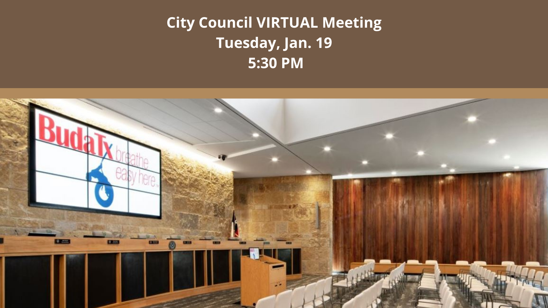 Virtual City Council Meeting - Jan. 19, 2021