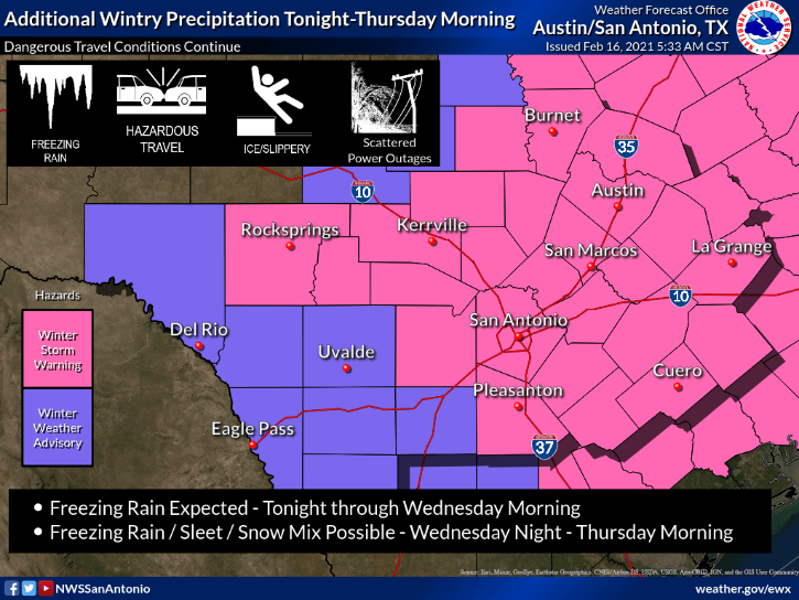 Winter Storm Warning - Feb. 16