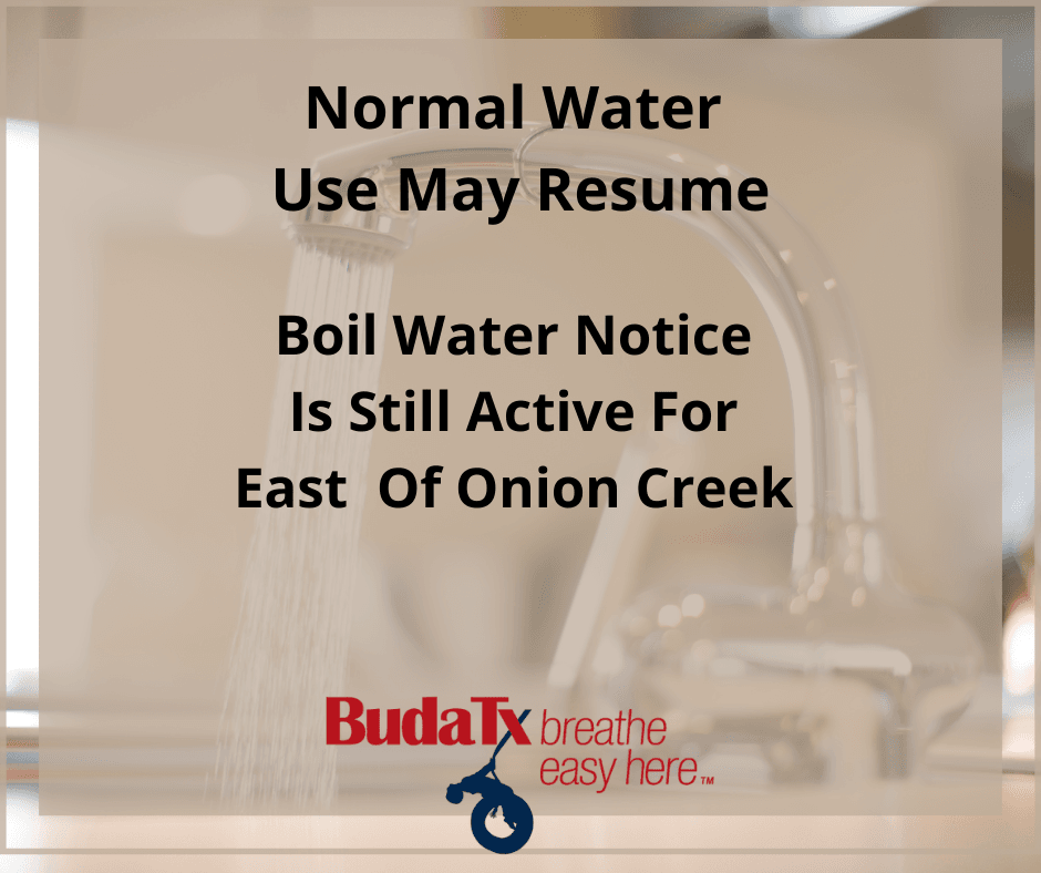 Normal Water Use May Resume (1)