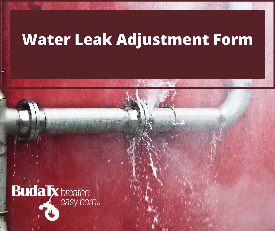 Water Leak Adjustment Form