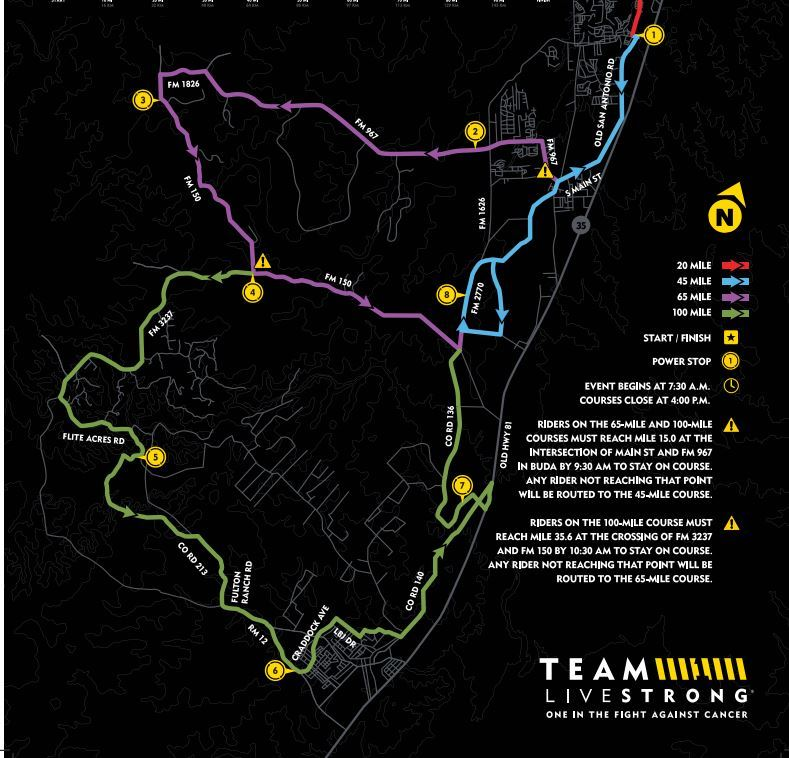 Livestrong Challenge Route