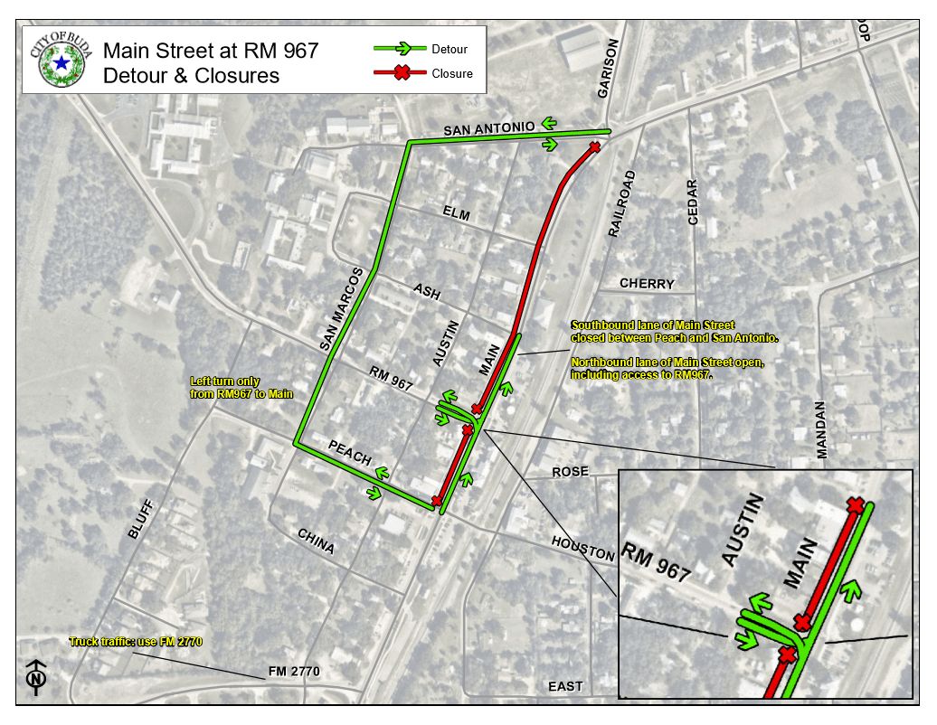 Downtown Main Street Street Closure - Feb. 21 - Feb. 24
