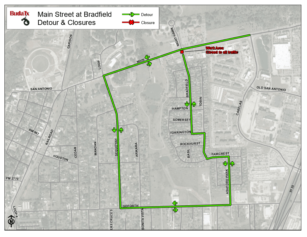 Main Street and Bradfield Closure