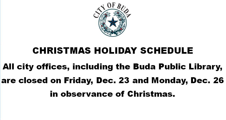 Flyer With Christmas Schedule Information